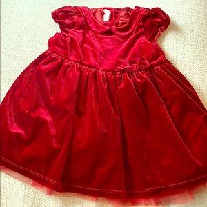 9-12 month velvet dress